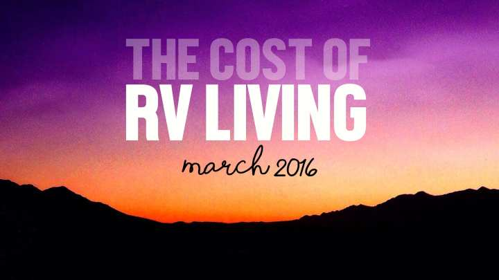 The Monthly Cost of RV Living