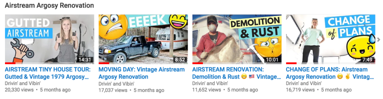 Airstream Renovation YouTube Video Playlist