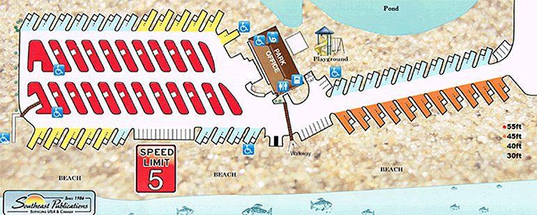 Dellanera RV Park Map