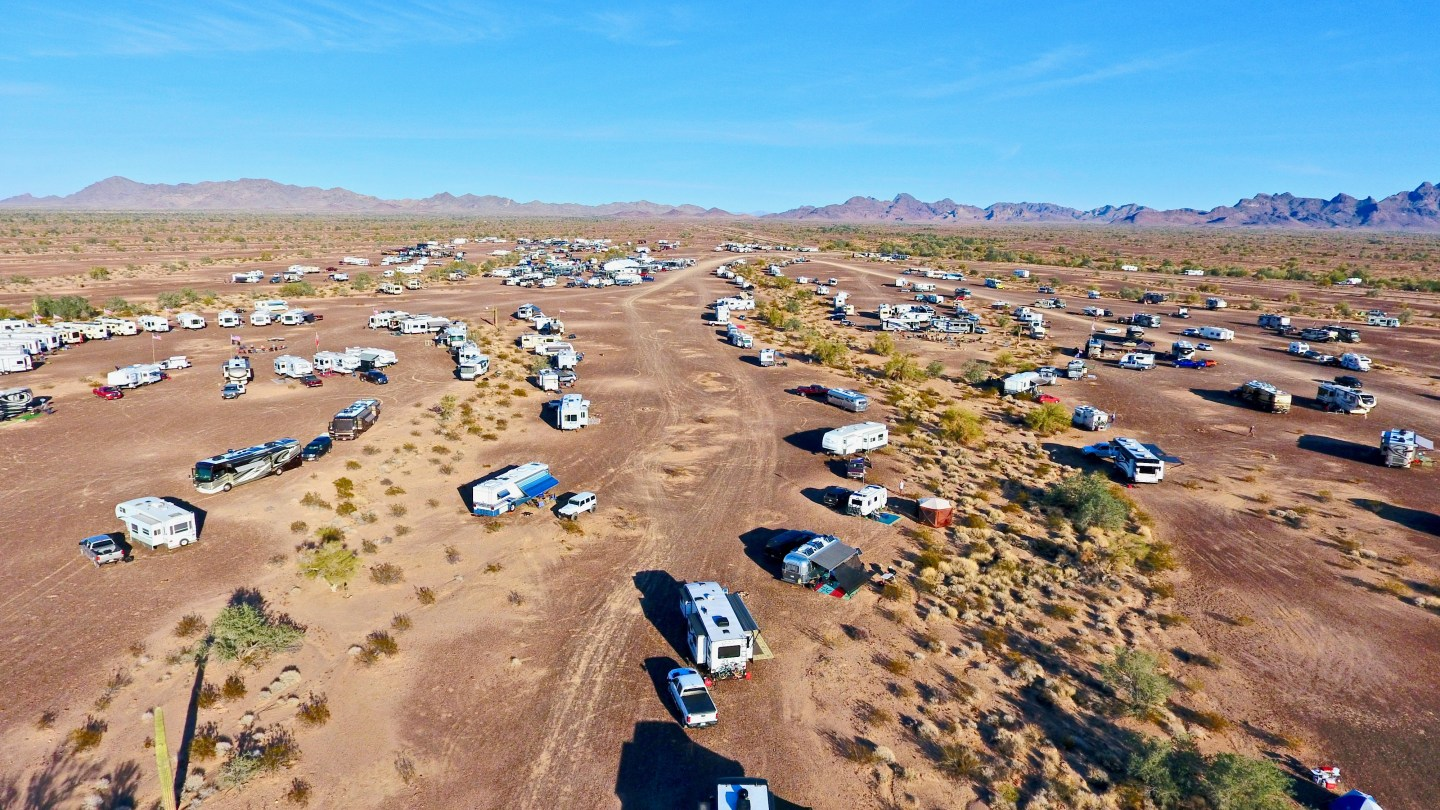 Quartzsite BLM Boondocking