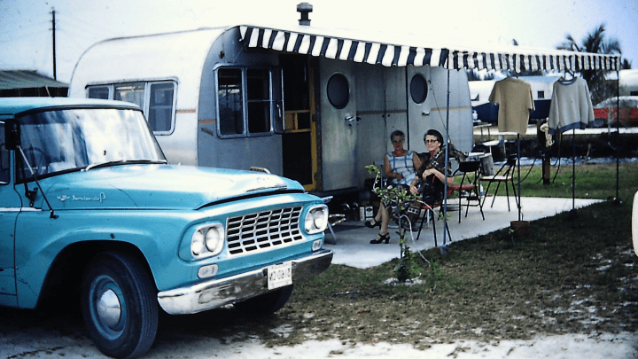 This is RV Camping in the 1970s