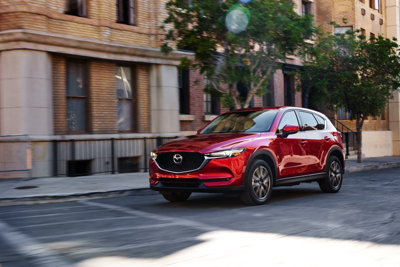 The towing capacity of the Mazda CX-5 is right at 2000 pounds.