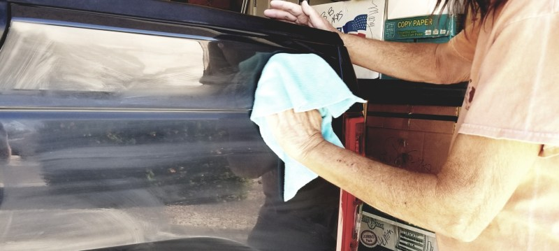 remove and prevent oxidation on RV by cleaning and waxing