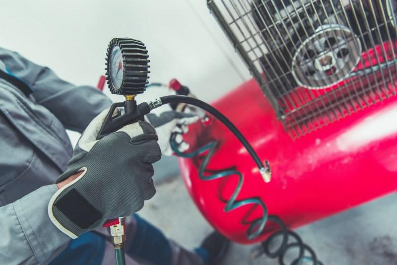 weird rv tools. RV air compressor for tire pressure.