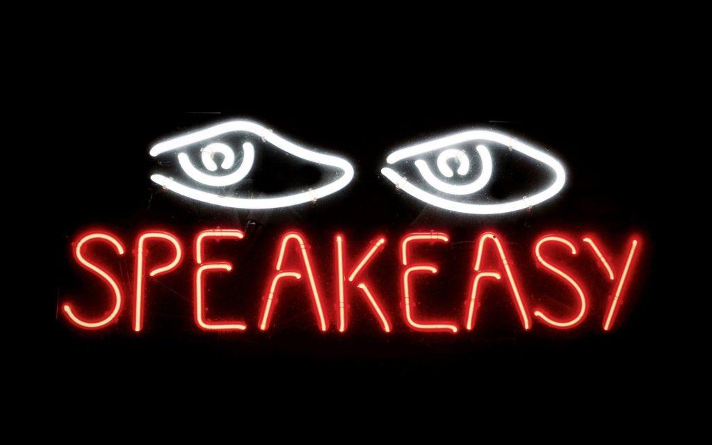 Neon speakeasy sign.