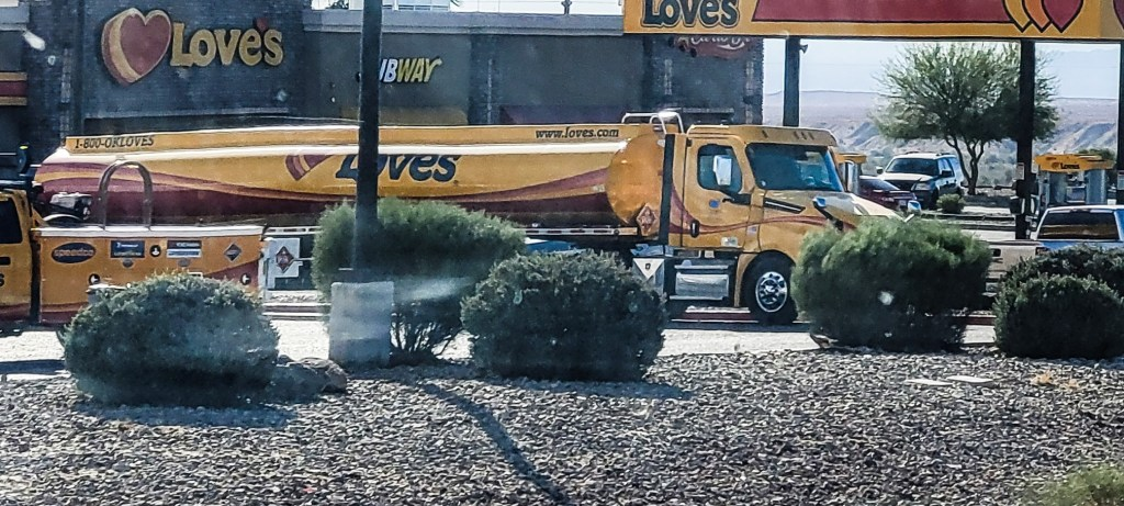 Love's truck stop with propane refill station.