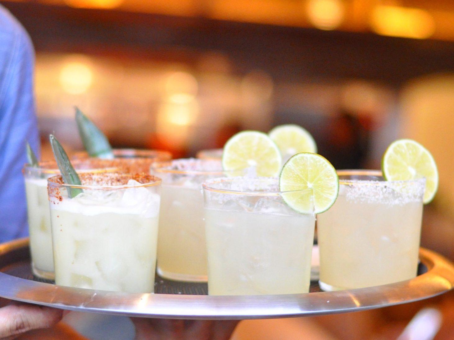 Tray of margaritas