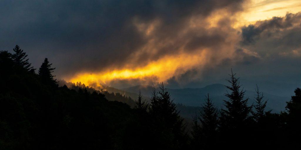 Appalachian Mountains at sunset.
