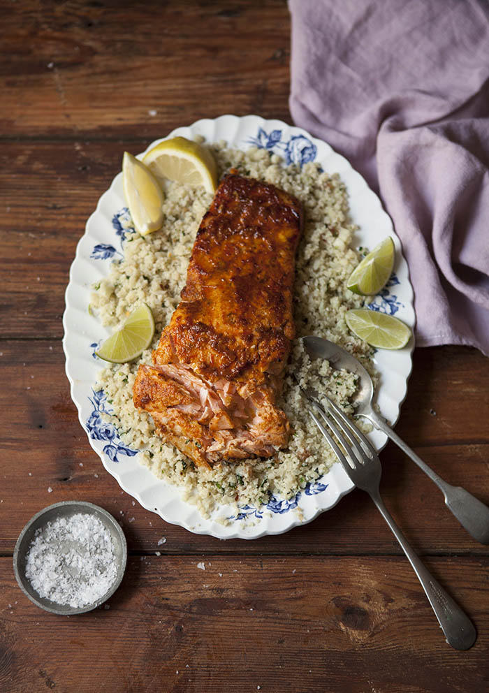 grilled-salmon-with-harissa