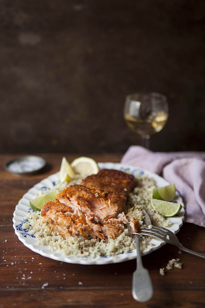 grilled-salmon-with-harissa-cauliflower-couscous
