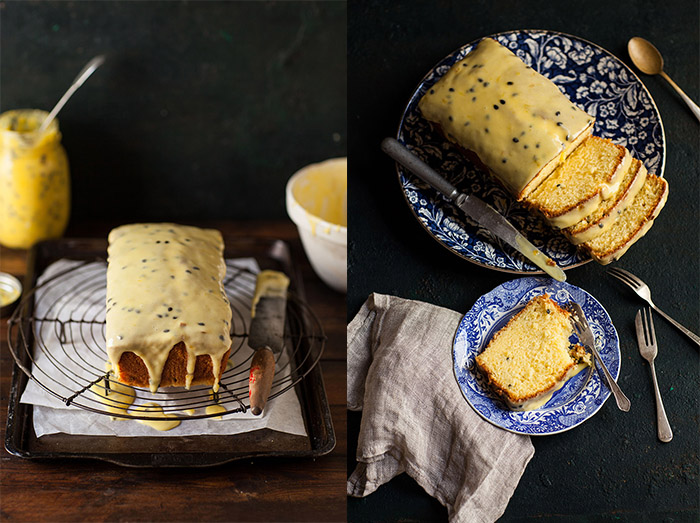 passion fruit curd loaf cake