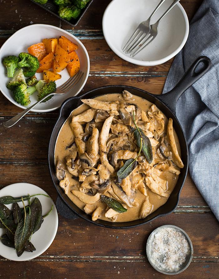 Delicious and easy chicken & mushroom stroganoff