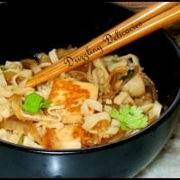 Lemony Ginger Soupy Noodles