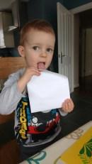 Licking Nanna Ps envelope
