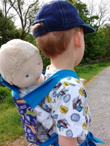 A1 taking baby Dave on a walk...