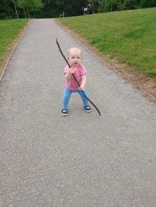 She loved that stick!