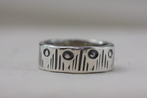 Mountain Moon Handmade Silver Ring