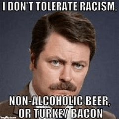 This image has an empty alt attribute; its file name is ronswansonbacon.png