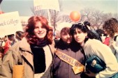 Dr. Iversen & two student at the DC Rally