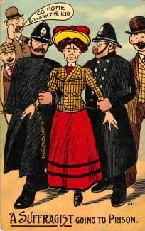A Suffragist Going to Prison