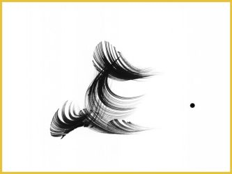 Simple abstract black and white ink painting for healing by John Diamond, M.D.