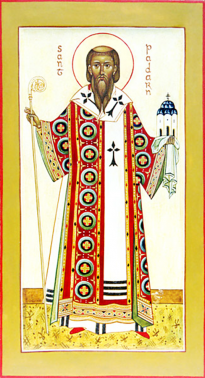 Orthodox Christian Icon of French Saint, Paternus (Padarn) of Avranches