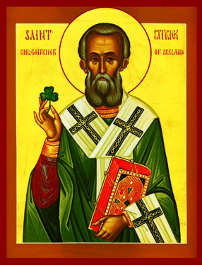 Icon of Irish Saint, Patrick, Bishop of Armagh, and Enlightener of Ireland