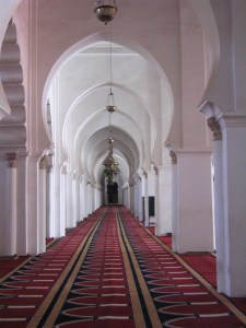 Marakesh Kutubiyya mosque interior