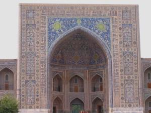 Samarkand Registan Tillya Kari Madrasa great ivan