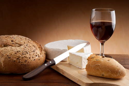 Image result for french food bread cheese wine