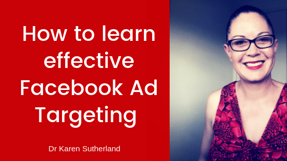 How to learn effective Facebook Ads targeting