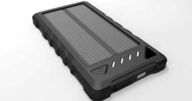 Solcelle powerbank med solceller solcellepanel