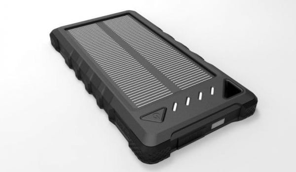 Solcelle powerbank med solceller solcellepanel