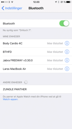 Zungle Panther solbriller bluetooth pairing test anmeldelse drkoch