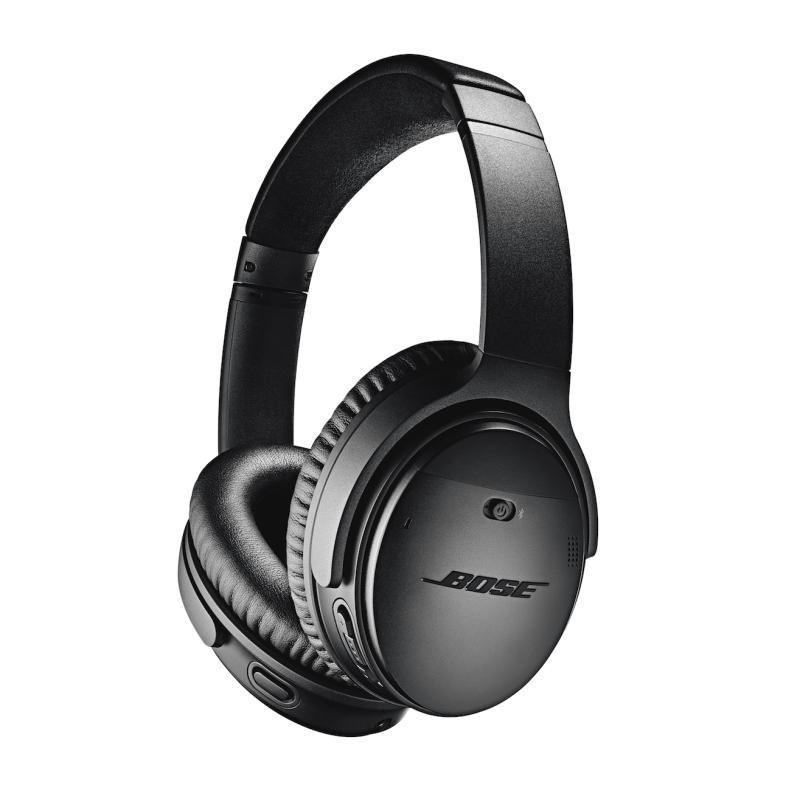 Bose QuietComfort 35 II silver black sort sølv test af anmeldelse erfaring problemer, hvordan virker støjreducerende høretelefoner noise cancellation cancelling noise reduction støjreducerende hørebøffer