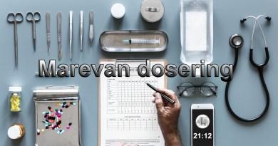 dosering antal tabletter skema marevan opstart marevanopstart justering beregning beregner marevan efter skema udregning af marevan dosis