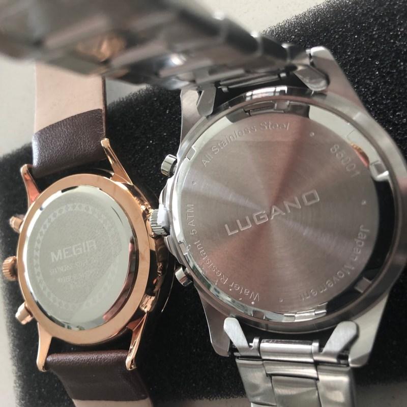 kvalitet billigt ur megir lugano watches chrono black steel test anmeldelse review billige ure af god kvalitet ikke vandtæt