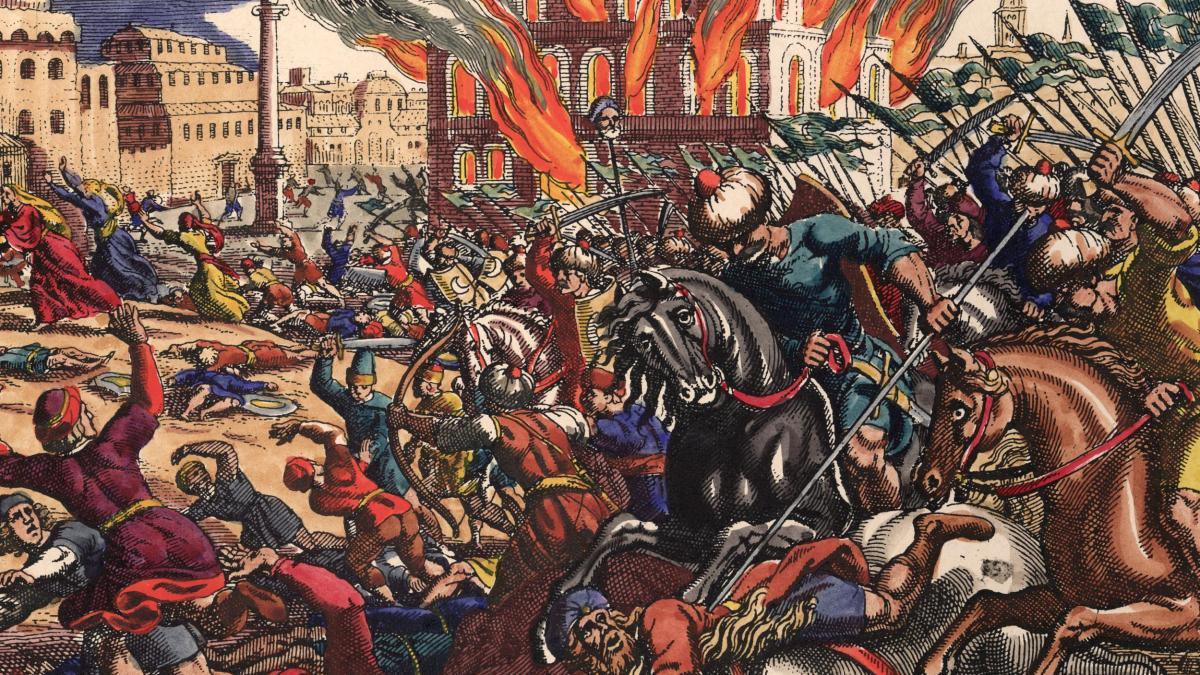 Eroberung-von-Konstantinopel-Merian-Conquest-of-Constantinople-Merian
