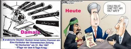 Israel damals heute