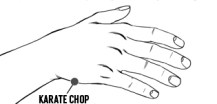 illustration for karate chop point
