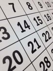 portion of calendar demonstrating the monotony of every day