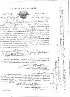 Jacob Mullenax Enlistment