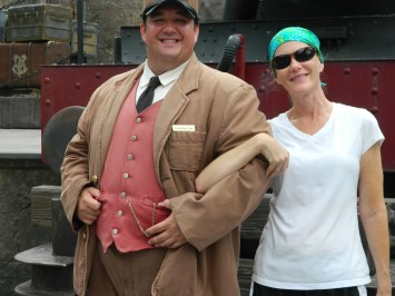 Me With The Hogwarts Express Conductor