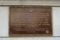 Plaque Honoring the Webster-Ashburton Treaty and Friendship Between the United States and Canada