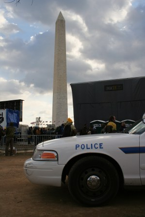 Police Car and the Washington Monument