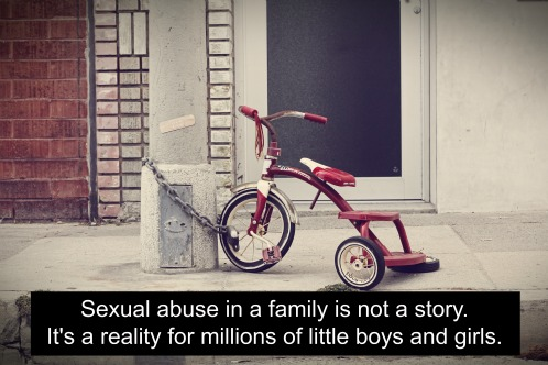 Sexual abuse in a family is not a story. It's a reality for millions of little boys and girls.