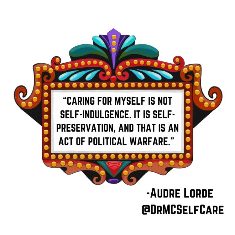 Audre Lorde quote about self-care