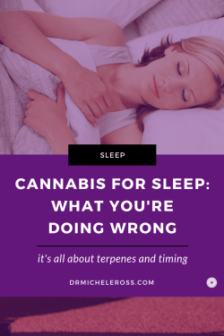 woman is lying in bed asleep after eating weed edible