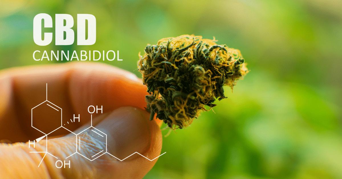 hemp cbd flower chemical structure
