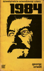 Menacing cover of a Czech copy of 1984